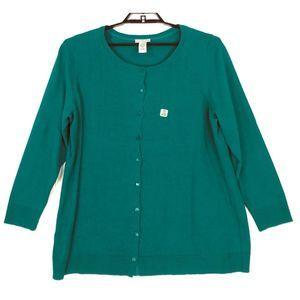 Catherines cotton button cardigan sweater 9677